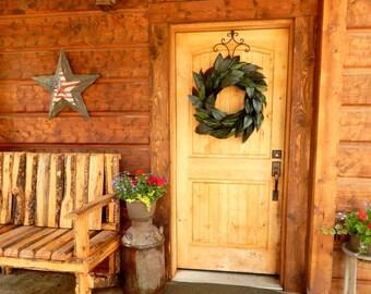 Magnolia Wreath-Spring Wreath-Summer Wreath-Outdoor Wreath-Rustic Door Wreaths-Housewarming Wreath-Wedding Gift-Custom Made Gift for Mom
