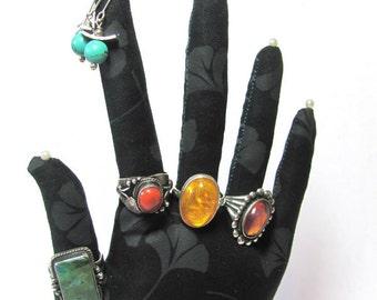 Gingko Leaf Koi Pond Fabric Hand Jewelry Earring Display REGULAR WristStyle HAND-Stand