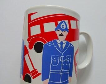 Vintage London Souvenir Coffee Mug 1980s