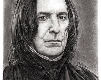 A4 Art Print Alan Rickman / Severus Snape