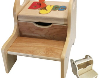 """The Premium Name Puzzle Stool (""""FREE"""" Shipping)"""