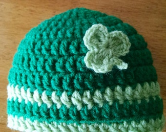 Crocheted Baby's St Patrick's Day Hat