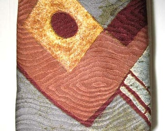 Bugatchi Abstract Designer Silk Tie Fall Colors
