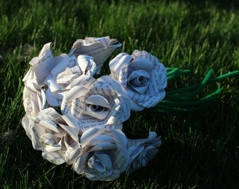 Shadowhunters roses - one dozen (12) roses made from a recycled Shadowhunters / City of Bones / Mortal Instruments book
