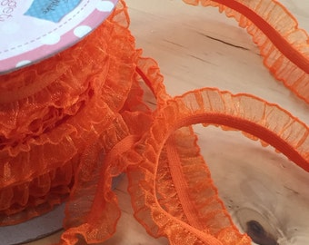 Elastic Ribbon Orange Riley Blake Headband Elastic