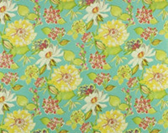 Two 16 x 16  Designer Decorative Pillow Covers for Indoor/Outdoor  - Floral - Blue Yellow Red White
