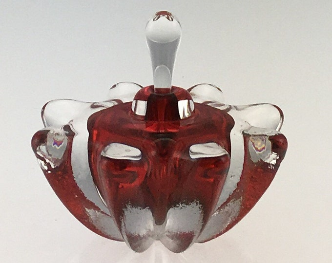 Featured listing image: Hand Blown Glass Perfume Bottle - Red Optic  by Jonathan Winfisky