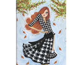 iCanvas Best dress Houndstooth Gallery Wrapped Canvas Art Print by Bella Pilar
