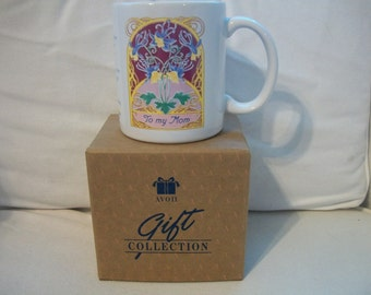Vintage Avon Sentimentally Yours Mother Mug With Gift Card For Photo
