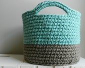 SALE PRICE! Large, Sturdy Crocheted Basket/Storage Bin