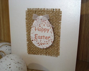 Happy Easter Holiday Greetings Card, Spring Easter Card, Easter Egg, Handmade Blank Art Card - Holiday Greeting Congratulations Cards