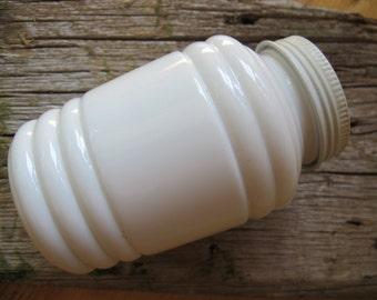 Milk glass flour shaker / Milk glass salt pepper shaker / Large spice shaker / milk glass canister