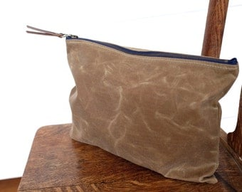 X-Large Zip Pouch | Field Tan