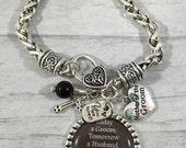 Mother of the Groom Bracelet / Gift from Groom / Cross Bracelet / Wedding Keepsake / Wedding Party Gift / Gift from Son / Mother in law