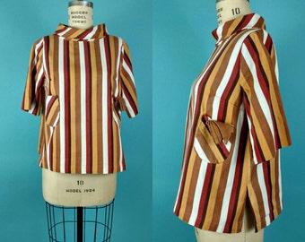 1950s Vertical Stripe Top Medium lrg