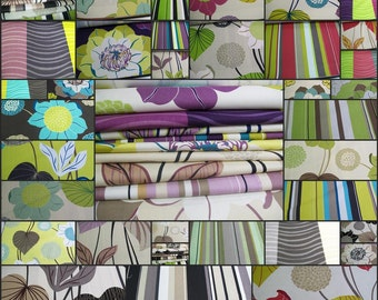 """Decor Fabric Sample- 30 pcs - 22"""" x 16 1/2""""- Large Floral- cotton -"""