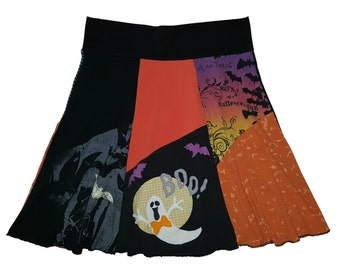 Halloween Plus Size XL 1X Hippie Skirt Women's Size 16 18 upcycled clothing from Twinkle