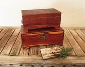 Pair of Rustic Pine Boxes