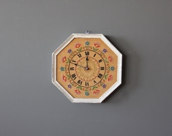 Handmade Embroidered Wall Clock