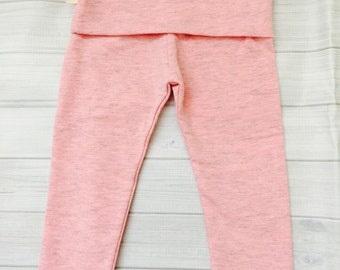 Baby Yoga Leggings Heather Pink