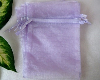 5 x 7 LAVENDER Organza Bags for Party Favors, Baby Shower Favors, Gift Bags, Saches, Wedding Favor, Jewelry, 12 cm x 18 cm, 10 pcs