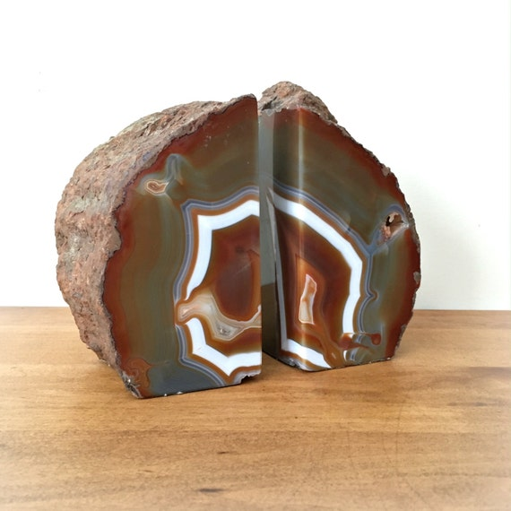 Large geode bookends natural crystals rocks geodes - Geode bookends ...