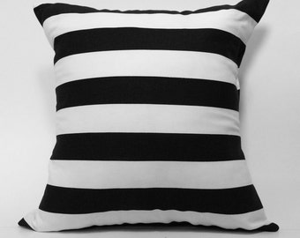 "18""X18"" Black and White Striped Fabric 