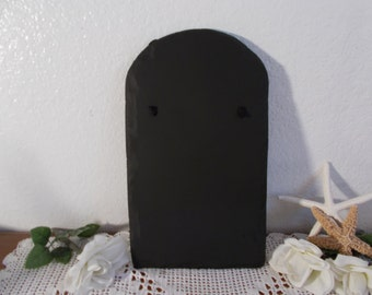 Black Tomb Stone Chalk Board Up Cycled Vintage Tombstone Blackboard Halloween Party Decoration Gothic Home Decor Spooky Door Hanging Sign