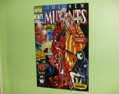 3D Cardboard Comic Book Cover Wall Art: New Mutants #98