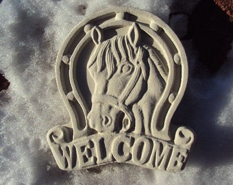 Beatitful Horse Welcome Stone, Ready Too Hang