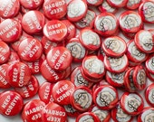 A pair of DoodleCorbyn badges