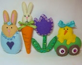 Easter Cuties PDF Instant Download- Hand Sewing Pattern-Ornaments