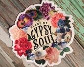 Boho Stickers, Good Vibes Sticker, Boho Decal, Vinyl Stickers, Laptop Stickers, Gypsy Stickers