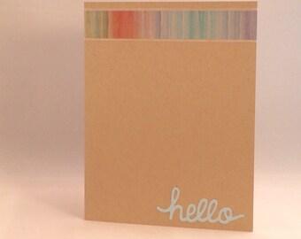 Just saying hi greeting card
