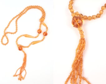 vintage beaded necklace // flapper style