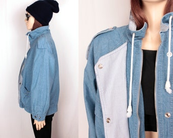 vintage chambray jacket // oversized