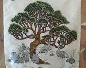 Vintage Thai silk Asian print cushion cover by Jim Thompson