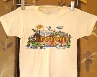 80s Oregon childrens T shirt