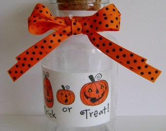 Trick or Treat Pumpkin treat jar