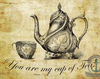 Cup of Tea Victorian Kitchen Wall Decor | At Checkout, Choose Lustre Print or Gallery Wrapped Canvas
