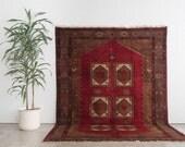 SAGHA 7x10 Hand Knotted Persian Wool Rug