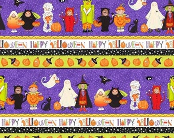 Striped Trick or Treaters from Northcott Fabric's Happy Halloween Collection