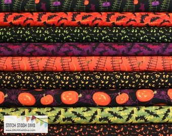 Haunted Hills Halloween Bundle From Clothworks (9 Fabrics Total)