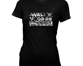 Wall of Voodoo - New Wave Flyer - Women's Babydoll 100% cotton, Hand Screened t-shirt
