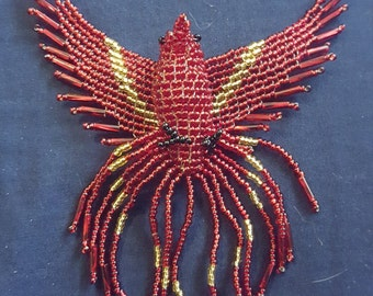 Beaded Red/Gold Pheonix