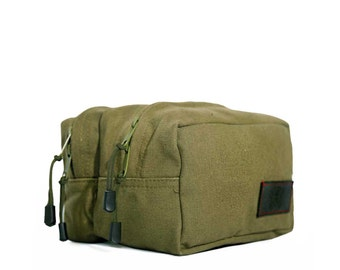 2 Compartment Shave Kit Toiletry Bag
