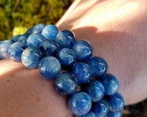 Blue Kyanite bracelet~Remove blockages&Build bridges
