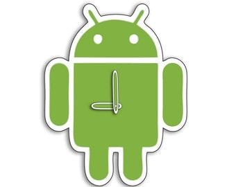 Android  Wall Clock Robo Two Variations Options