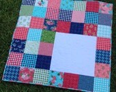 Custom Monogram Initial Baby Quilt - Applique Letter - Moda Gooseberry by Lella Boutique