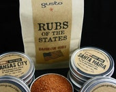 Gusto's Original RUBS of the STATES - Barbecue Rub Gift Set -  BBQ Grilling Spices